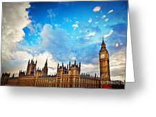 London Uk Big Ben The Palace Of Westminster Greeting Card