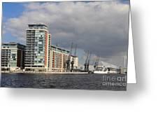 London Victoria Dock Greeting Card