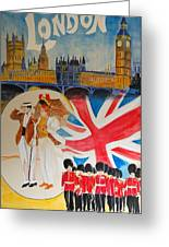 London Vintage Poster Greeting Card