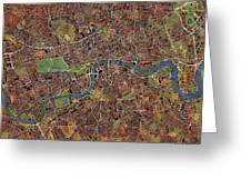 London Wall Map Greeting Card