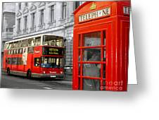London With A Touch Of Colour Greeting Card