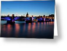 London's Southwark Bridge Greeting Card by Ivelin Donchev