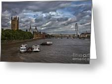 London's Thames River Greeting Card