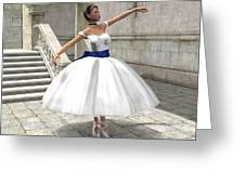 Lone Ballet Dancer Greeting Card