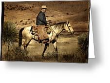 Lone Cowboy Greeting Card