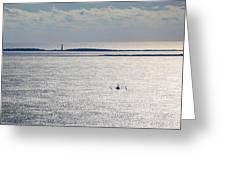 Lone Shrimper Greeting Card