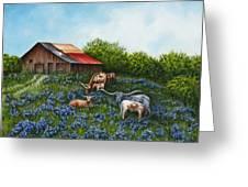 Lone Star Bluebonnets Greeting Card