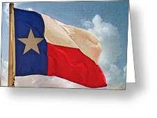 Lone Star Flag Greeting Card