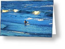 Lone Surfer 1 Greeting Card