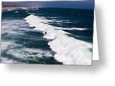 Lone Surfer Greeting Card