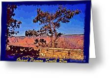Lone Tree South Rim Poster Greeting Card