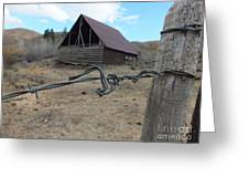 Lonely Barn Greeting Card by Marcus Maiden