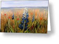 Lonely Bluebonnet Greeting Card