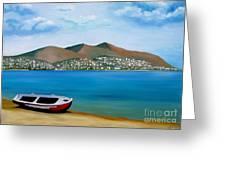 Lonely Boat Greeting Card by Kostas Koutsoukanidis