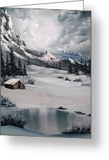 Lonely Cabin Greeting Card by John Koehler