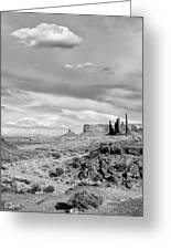 Lonely Cloud And Totem Pole - Monument Valley Tribal Park Arizona Greeting Card