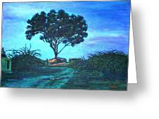 Lonely Giant Tree Greeting Card