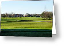 Lonely Golfer Greeting Card