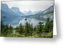 Lonely Island Among Giants Greeting Card
