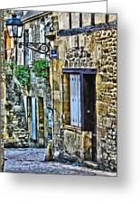 Lonely Lane In Sarlat France Greeting Card