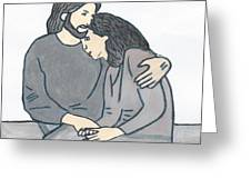 Lonely Meets God Greeting Card