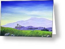 Lonely Mountain Greeting Card by Anastasiya Malakhova
