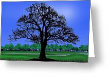 Lonely Old Tree Greeting Card