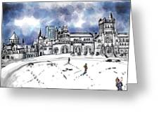 Lonely Winter Campus Greeting Card