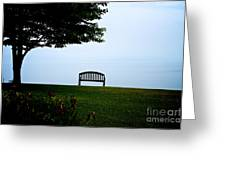 Lonesome Bench Greeting Card
