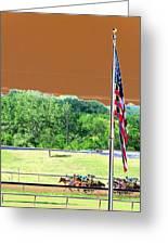 Lonestar Park - Backstretch - Photopower 2204 Greeting Card