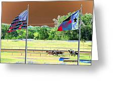Lonestar Park - Backstretch - Photopower 2205 Greeting Card