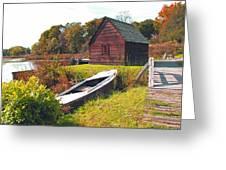 Long Ago Along The Marsh Greeting Card