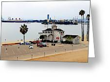 Long Beach Bay California / Tintbrush Effect Greeting Card