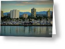 Long Beach Cityscape   Greeting Card