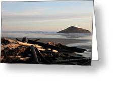 Long Beach Drift  B.c. Greeting Card