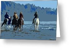 Long Beach Horses Study Greeting Card