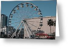 Long Beach In Technicolor Greeting Card