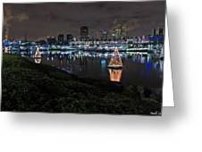 Long Beach Lights Greeting Card