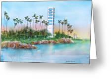 Long Beach Oil Island Greeting Card