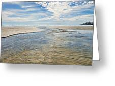 Long Beach Outflow Greeting Card