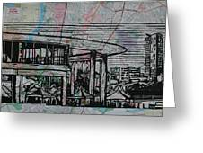 Long Center On Map Greeting Card