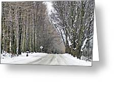 Long Country Road Greeting Card