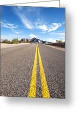 Long Desert Road Greeting Card
