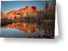 Long Exposure Photo Of Sedona Greeting Card