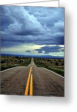 Long Highway Greeting Card