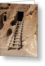 Long House Front Door Bandelier National Monument Greeting Card