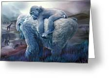 Silverback Gorilla - Long Journey Home Greeting Card