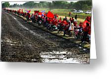 Long Journey Of The Red Rally Greeting Card