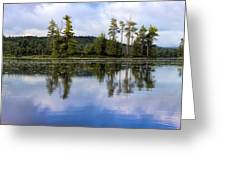 Long Lake Reflection Greeting Card