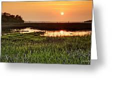 Long Marsh View Greeting Card